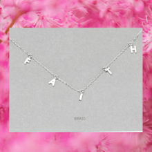 Load image into Gallery viewer, Danity FAITH Message Necklace