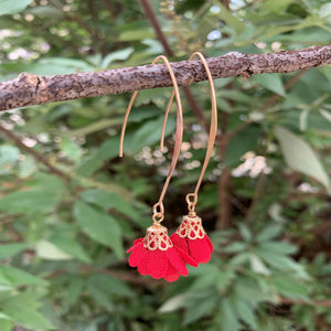 Charming Bohemian Hook Flower Tassel Earrings