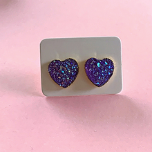 Load image into Gallery viewer, Sparkle My Heart Druzy 12mm  Stud Earrings