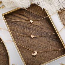 Load image into Gallery viewer, Multi-layer Layered Star, Heart, Moon Necklace - 3 piece set