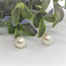 Load image into Gallery viewer, Freshwater Pearl Sterling Silver Round Stud Earrings