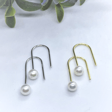 Load image into Gallery viewer, Hook Pearl Sterling Silver Earrings