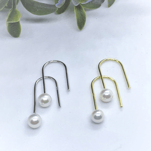 Hook Pearl Sterling Silver Earrings