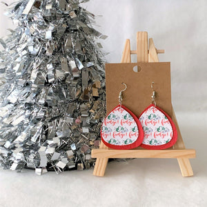 Oh Fudge Christmas Faux Leather Earrings