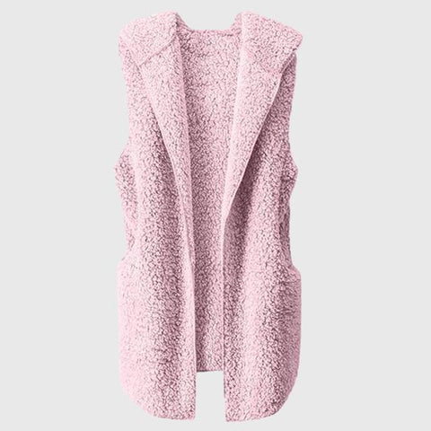 Gilet Long sans Manche Rose Printemps
