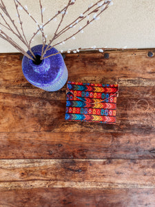 Mexican embroidered clutch