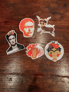 Pack 5 Frida stickers