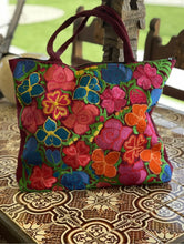 Load image into Gallery viewer, Handmade Floral Embroidered Mexican Tote Bag Purses & Handbags Bolsa Bordada