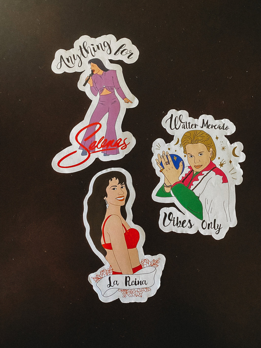 Selena & walter Mercado stickers