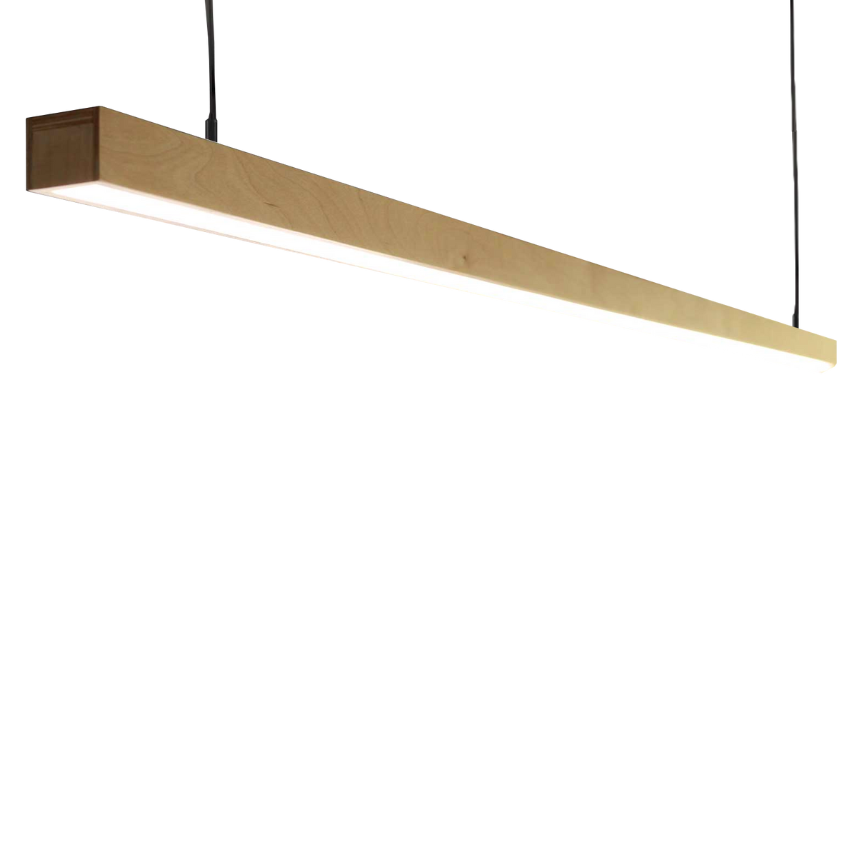 Black Maple Kurtz Hanging Linear Light