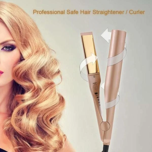 (Last Day Promotion 60% off !!!)Automatic Release Negative Ions 2 in 1 Hair Curler and Straightener - EEEZJ