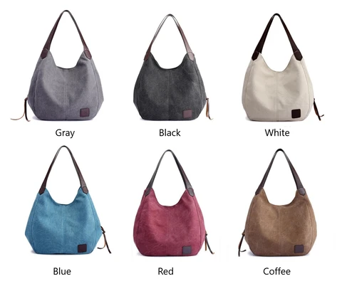 (50% OFF LAST 2 Days!!!) CANVAS SHOULDER BAG WITH TRIPLE COMPARTMENTS