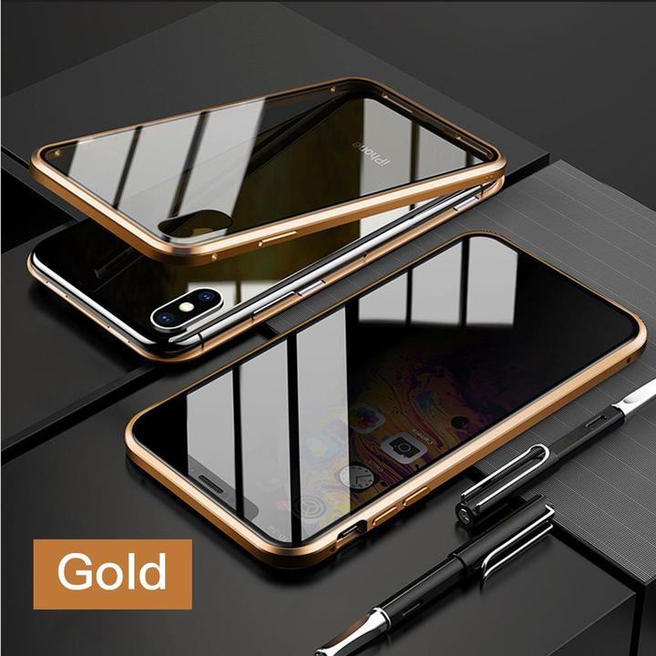 Anti-peep tempered glass magic iphone phone case