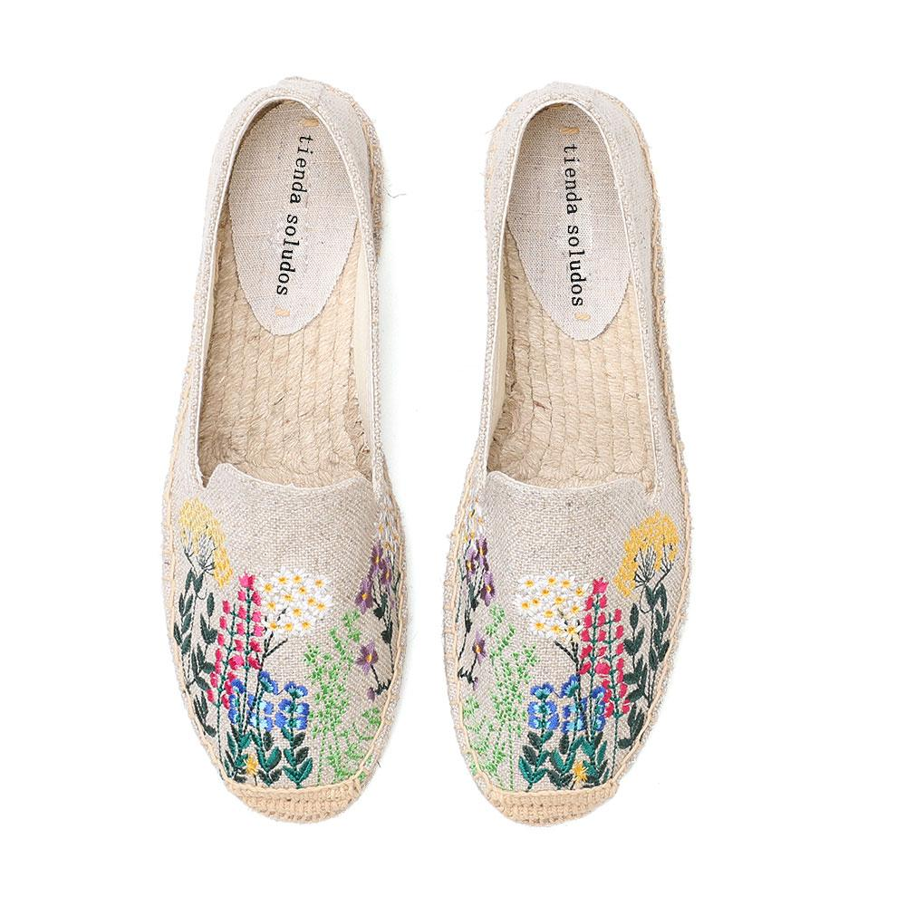 Embroidery Espadrilles Flats