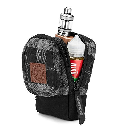 Grey Plaid Stash Vape Case