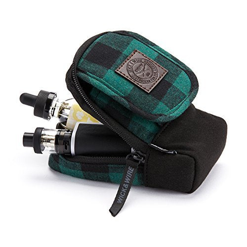 Green Plaid Vape Case