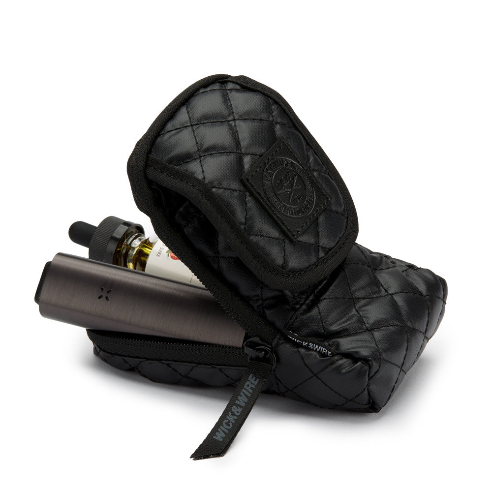 STASH VAPE CASE 3.0 (BLACK/BLACK) - VAPE CASES - WICK AND WIRE CLOTHING - Wick and Wire