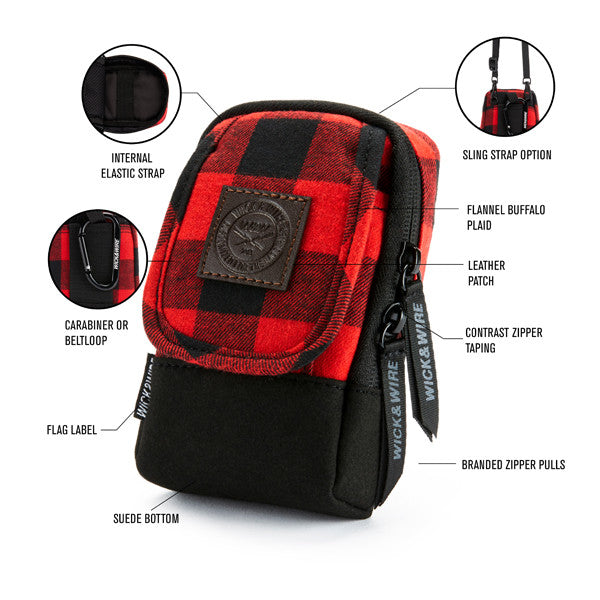 Red Plaid Stash Case | Wick and Wire Clothing