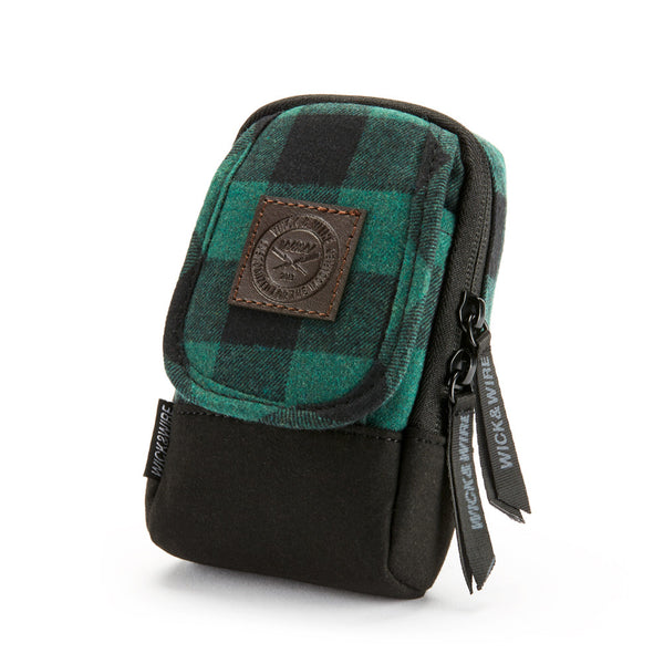 VAPE CASES - STASH VAPE CASE 3.0 (GREEN/PLAID) - VAPE BAG - MOD HOLDER - WICK AND WIRE BRAND
