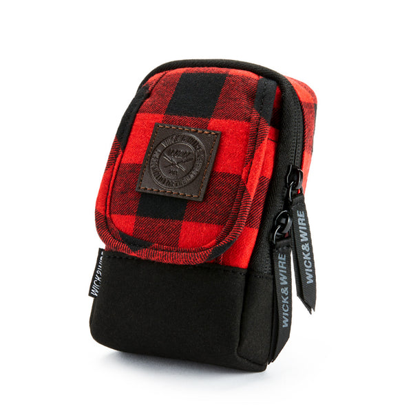 VAPE CASES - STASH VAPE CASE 3.0 (RED/PLAID) - VAPE BAG - MOD HOLDER - WICK AND WIRE BRAND