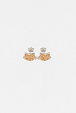 Yellow Cat Kitty Cat Crystal Silver Stud Earrings | Annie and Sisters