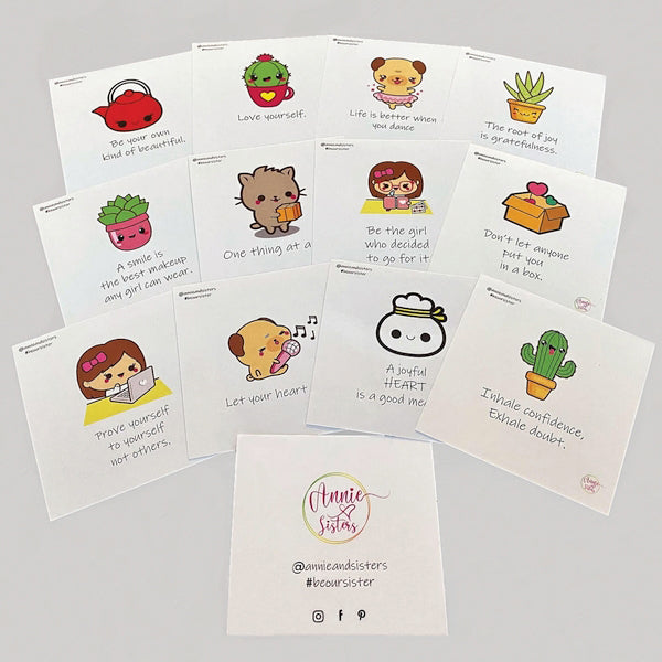 Annie and Sisters inspirational stickers