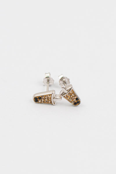 Boba Tea Crystal Silver Stud Earrings | Annie and Sisters