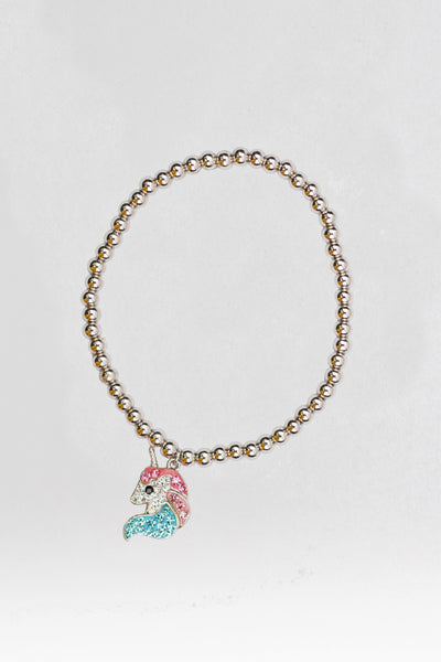 Unicorn Crystal Sterling Silver Bracelet | Annie and Sisters