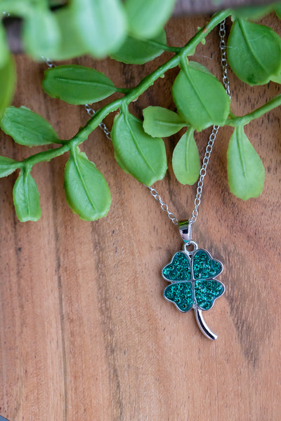 Cloverleaf Crystal Sterling Silver Necklace | Annie and Sisters