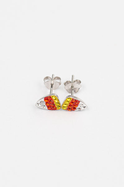 Candy Corn Crystal Stud Earrings | Annie and Sisters | sister stud earrings, for kids, children's jewelry, kid's jewelry, best friend