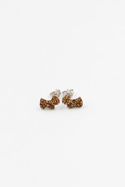 Pet Dog Crystal Pave Silver Stud Earring | Annie and Sisters | sister stud earrings, for kids, children's jewelry, kid's jewelry, best friend