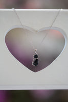 Crystal Cat Silver Pendant Necklace in Jet Black Crystal | Annie and Sisters