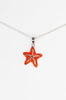 Starfish Crystal Silver Pendant Necklace | Annie and Sisters