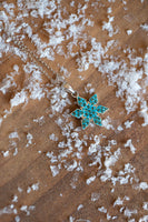 Stellar Snowflake (Stellar) Holiday Crystal Silver Pendant Necklace in Indicolite | Annie and Sisters