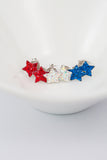 Crystal Star Pave Stud Silver Earrings | Annie and Sisters | sister stud earrings, for kids, children's jewelry, kids jewelry, best friend