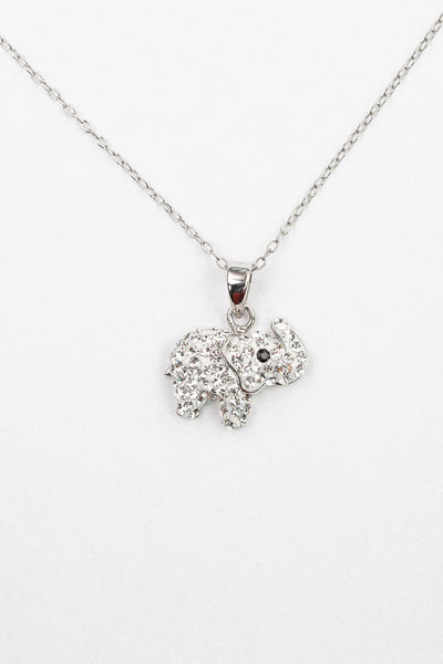 Clear Crystal Elephant Necklace | Annie and Sisters