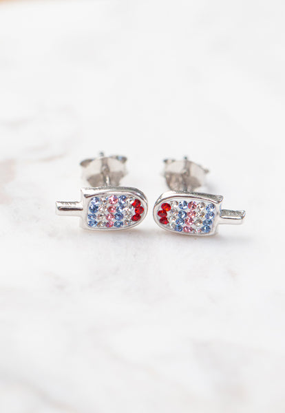 Popsicle Crystal Stud Earrings | Annie and Sisters | sister stud earrings, for kids, children's jewelry, kid's jewelry, best friend