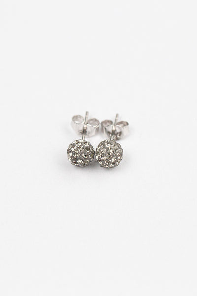 6mm Disco Ball Stud Earrings in Clear | Annie and Sisters | sister stud earrings, for kids, children's jewelry, kid's jewelry, best friend