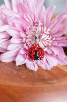 Red Crystal Ladybug Necklace | Annie and Sisters