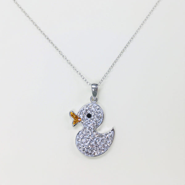 Clear Crystal Duck Necklace | Annie and Sisters