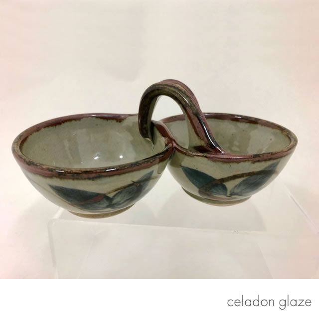 double bowl celadon glaze