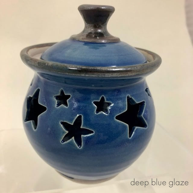 garlic store deep blue glaze