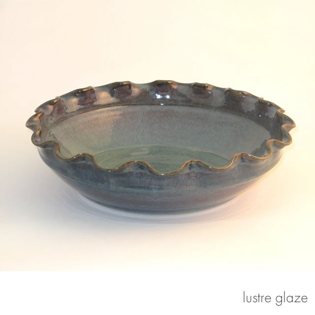 Large fluted bowl lustre glaze