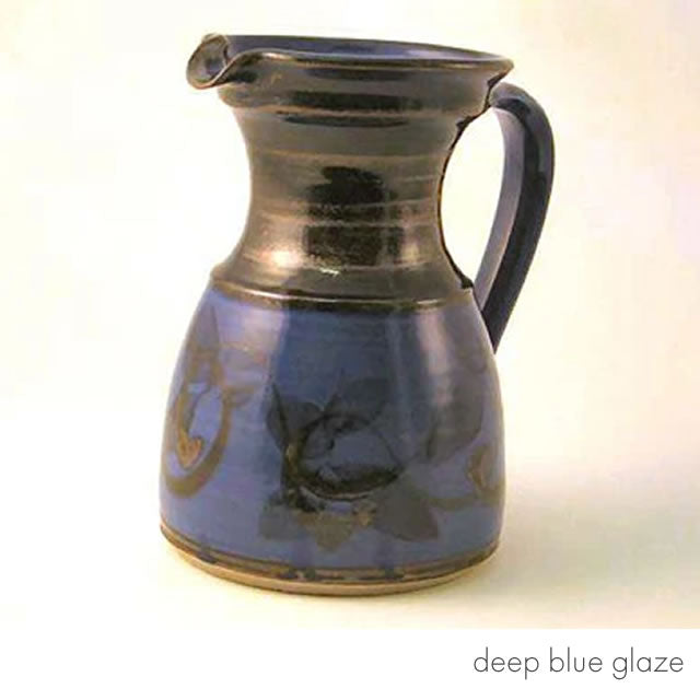 large straight jug deep blue