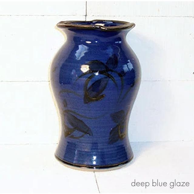 large vase deep blue