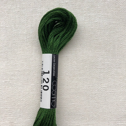 Cosmo, Cotton Embroidery Floss, Cedar Green 120