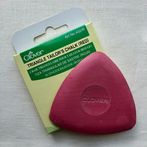 Clover Triangle Tailor's Chalk in Red