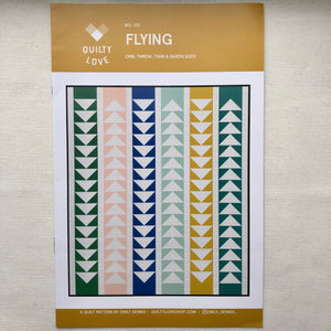 Flying Quilt Pattern 135, Quilty Love