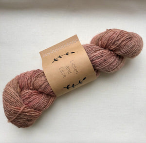 Rustic Heather Sport, Rose, Lichen and Lace