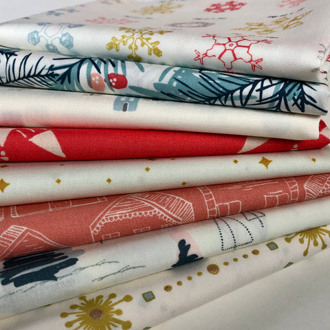Festive Holiday Season! 8 Fat Quarter Bundle
